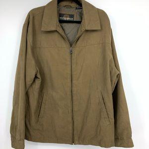 Weatherproof Mens Large Coat Jacket Waist Brown